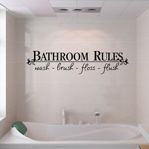 Quote Wall Decals Bath Room Stickers