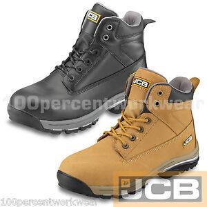 Jcb Workmax Sécurité Chukka Travail Bottes Chaussures De Randonnée Acier Cuir Bouts Semelle Intermédiaire-afficher Le Titre D'origine
