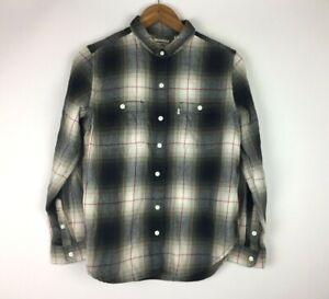 Levis-Women-s-Size-M-Plaid-Long-Sleeve-Boyfriend-Fit-Button-Up-Shirt