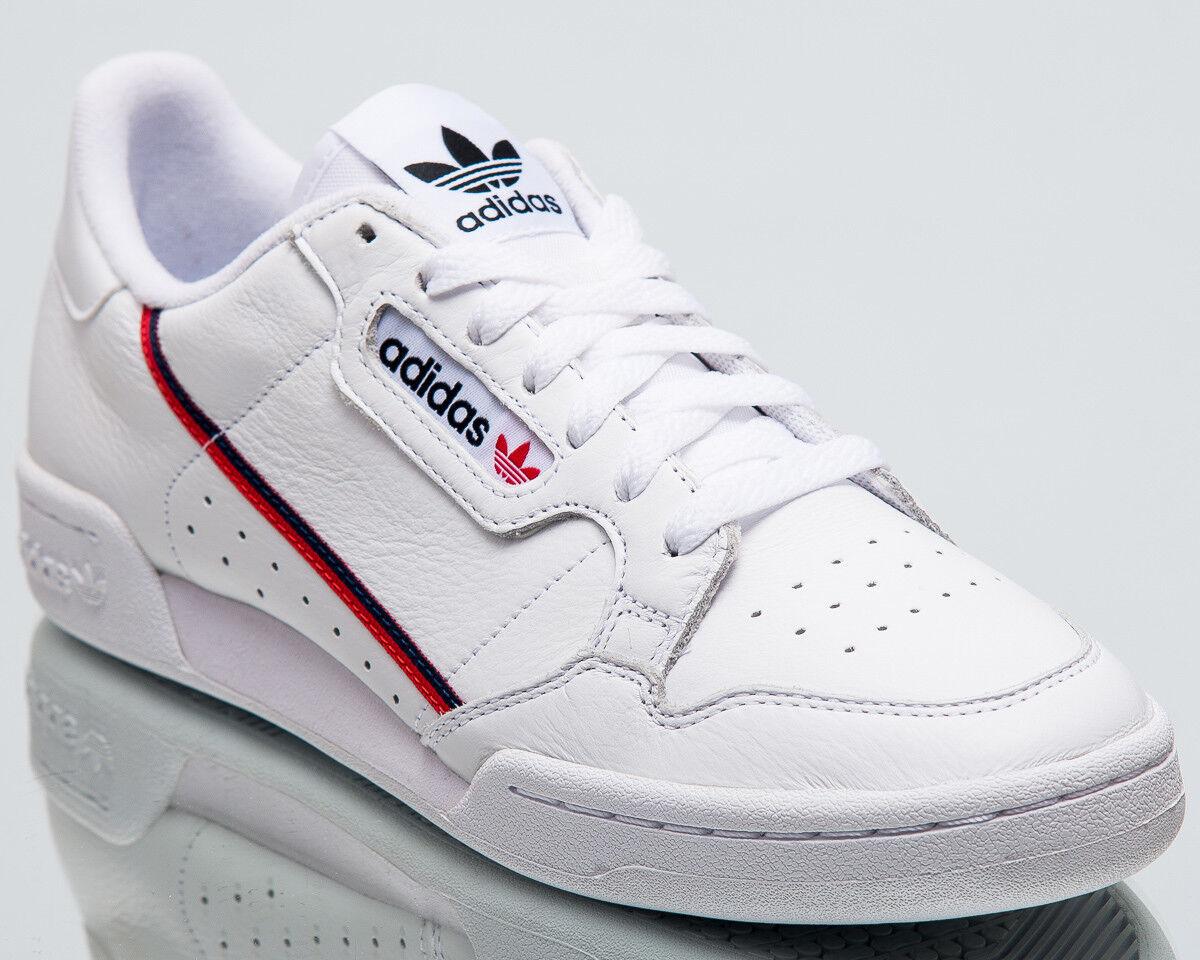 adidas Originals Continental 80 Rascal uomo New White Scarlet Navy Shoes B41674 Scarpe classiche da uomo
