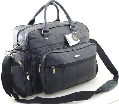 Neuf Lorenz Véritable Cuir Véritable Voyage Week-End Gym Sports Luggage Holdall Case