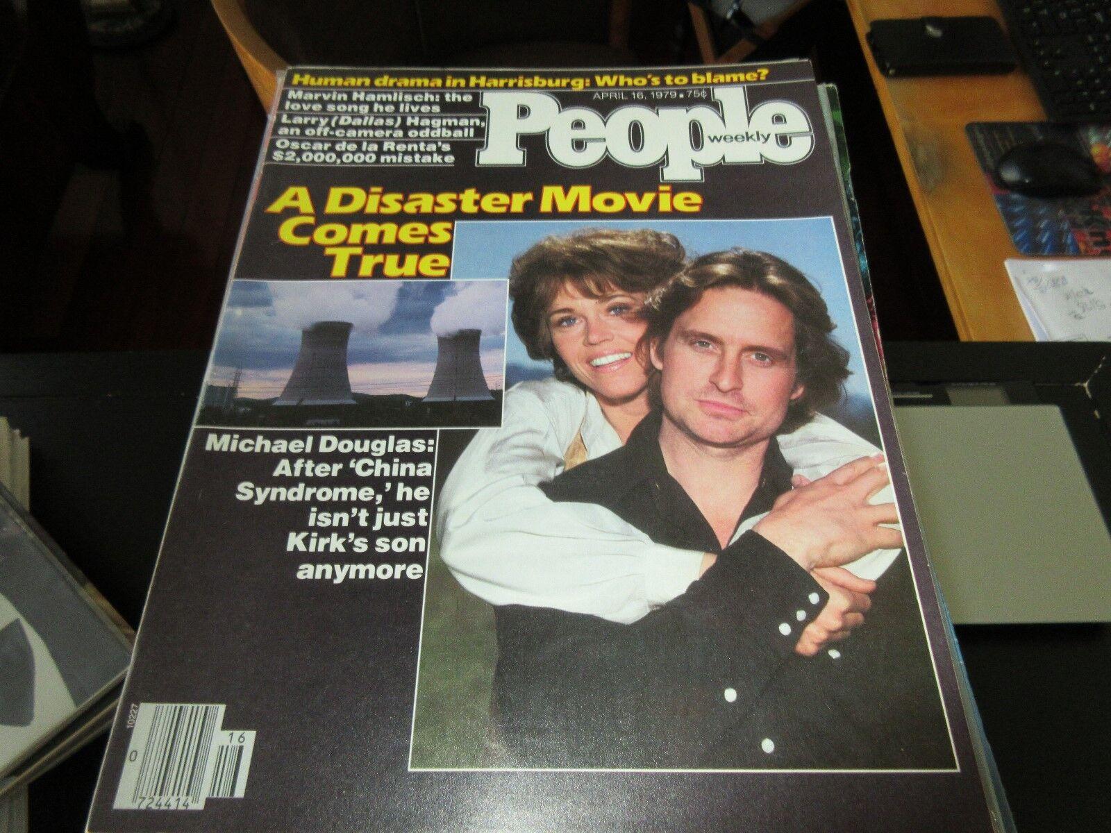 People Magazine , Michael Douglas/Jane Fonda , 4/16/79
