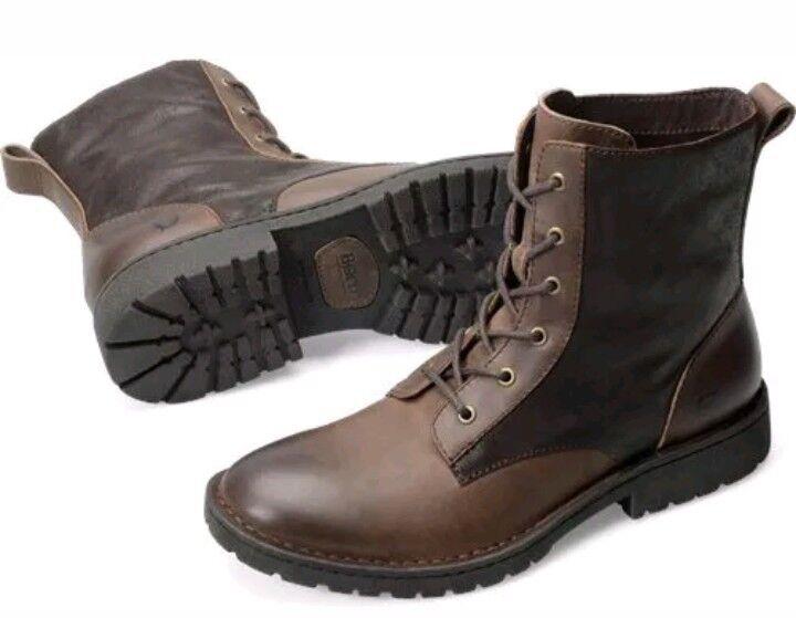 NEW BORN H33123 Allen Uomo Dark Brown Pelle Lace Up Ankle Stivali Shoes Sz. 8 M