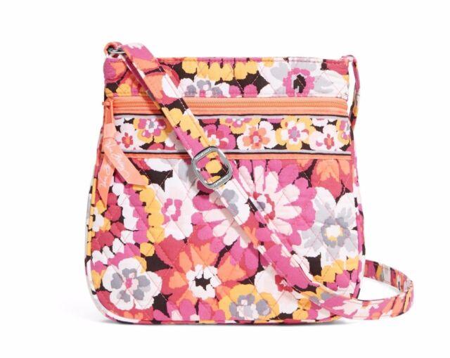 VERA BRADLEY Petite Double Zip Hipster PIXIE BLOOMS Tote Purse Bag $48 So PRETTY