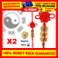 Lucky-Coins-Feng-Shui-3-Copper-Coins-Red-Chinese-Home-Wealth-Success-Lucky-Charm thumbnail 1
