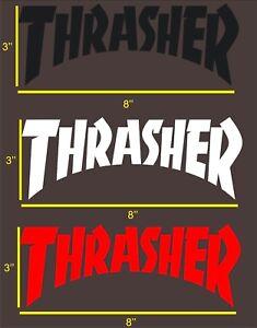 447109de6613 Image is loading THRASHER-MAGAZINE-STICKER-Thrasher-Die-Cut-Logo-Sticker-