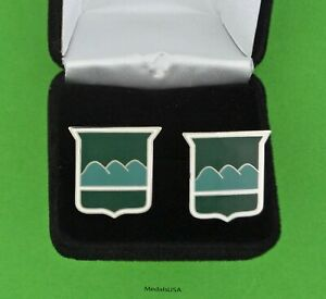 80th-Infantry-Division-US-Army-Cuff-Links-amp-Gift-Box-Blue-Ridge-Division-USA