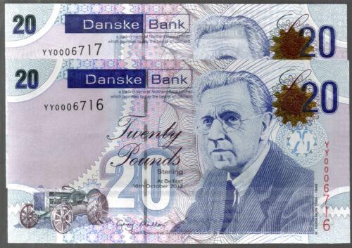 2012 2016 YY REPLACEMENT (northern) DANSKE bank ltd belfast £20 banknote SCARCE