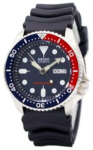 Seiko-SKX009K1-Divers-Auto-Dark-Blue-Dial-Pepsi-Bezel-Rubber-Mens-Watch-RRP-389