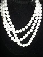 Monet Signature Pearl Imitation Layered Necklace Vintage Antique Spring