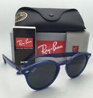 Ray-ban Sunglasses Rb 2180 6165/87 49-21 Transparent Blue Frame W/ Grey Lens