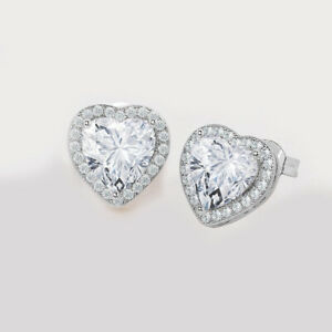 18K-White-Gold-Plated-Stud-Earrings-Heart-Brilliant-Cut-white-CZ-039-s-Nickel-Free