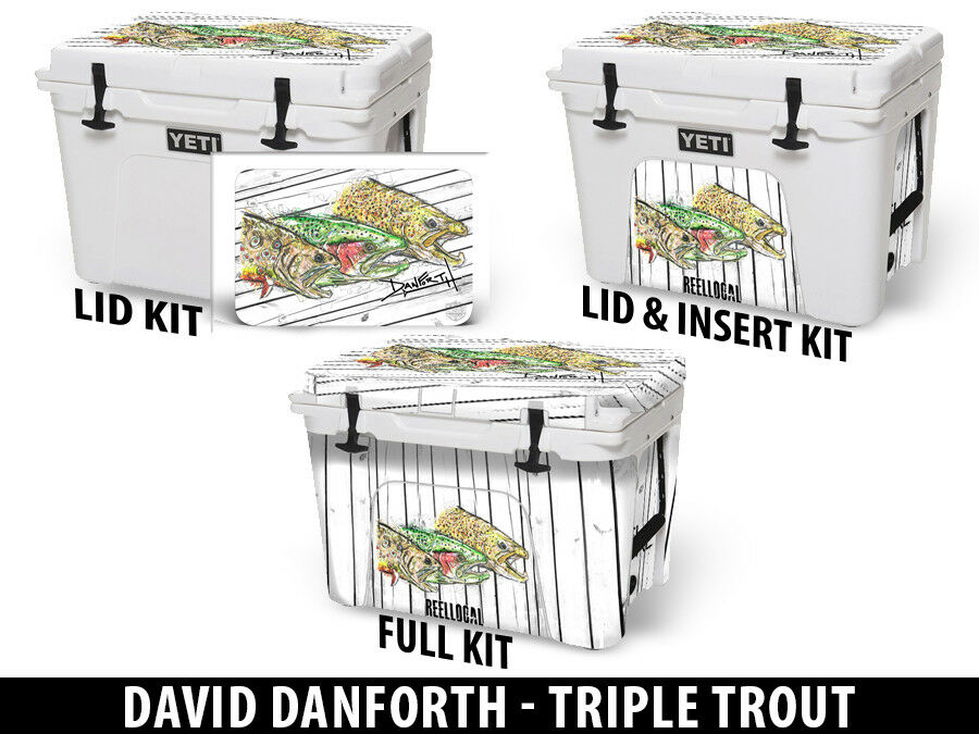 USATuff Custom Cooler Wrap fits YETI Tundra 65qt FULL Danforth Triple Triple Danforth Trout 34f29a