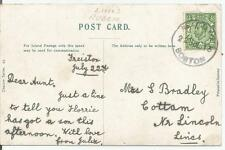 RUBBER POSTMARK CATTON  ON KING GEORGE V 1d RED POSTCARD REF 155