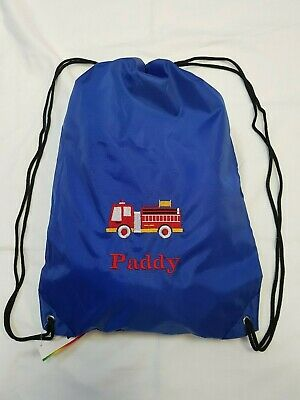 Personalised Embroidered Name School Sports PE Drawstring Gym /& Swimming Bag