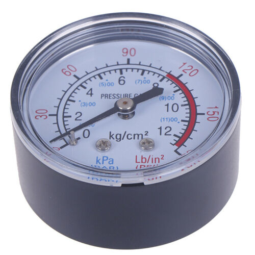 Bar Air Pressure Gauge 13mm 1//4 BSP Thread Double Scale For Air Compressor 4H