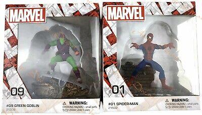 "Schleich Marvel 4/"" Spider-Man /& Green Goblin Hand Paint Figure Statues Lot NIB"