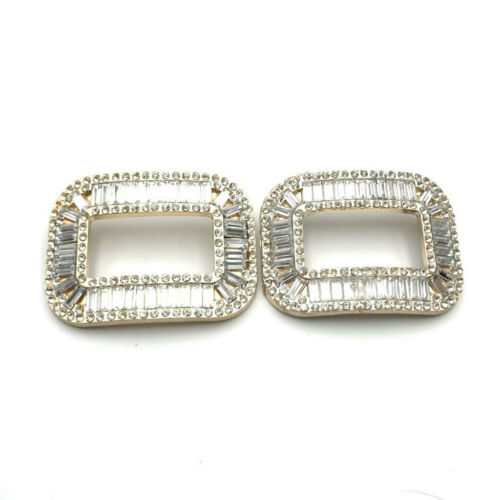 1 Pair Rhinestone Crystal Shoe Buckle Shoe Clips for Wedding Shoes Decor