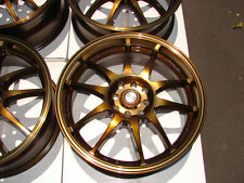 16 4x108 4x100 Bronze Rims Fits Cobalt Del Sol Civic Integra Cougar 4 Lug Wheels