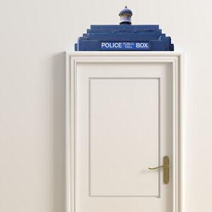 FUN DR WHO BLUE TARDIS PHONE BOX WALL STICKER VINYL TRANSFER MURAL