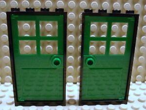 LEGO LEGOS Set of 2 NEW Door /& Frame 1 x 4 x 6 Yellow White