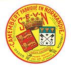 Etiquette de Fromage Ancienne Camembert Normandie S E V N No 277