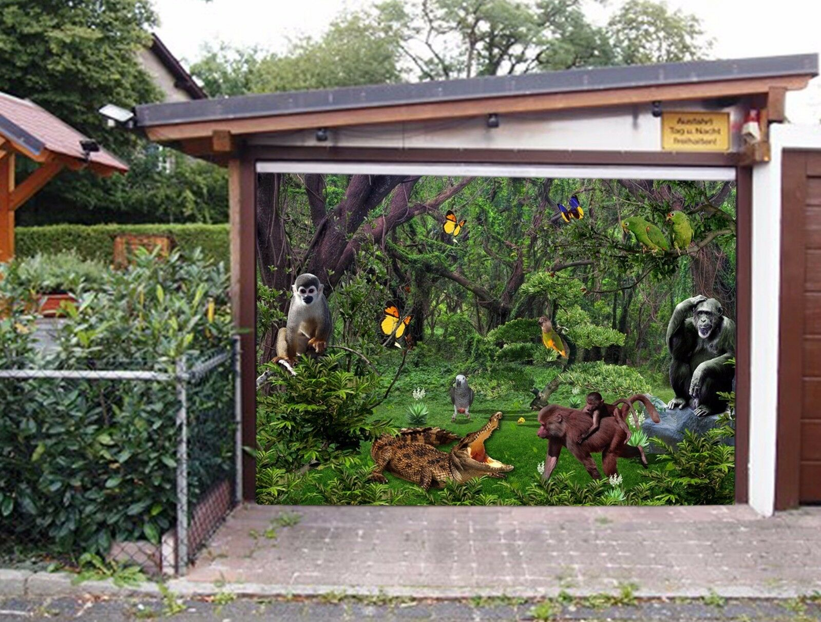 3D Animal Grove 8 Garage Door Murals Wall Print Decal Wall AJ WALLPAPER UK Carly