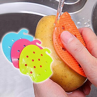 Vegetable Fruit Potato Carrot Veggie Scrubber Protect Dirt Clean Brush Wash Tool