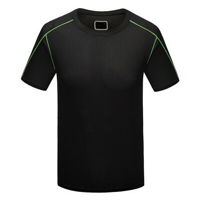 Men Sports Athletic T-shirts O-neck Fitness Gym Tee Tops Breathable Quick-drying