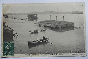 09A51-Antica-Cartolina-Parigi-Inondazioni-Gennaio-1910-Porta-da-Bercy