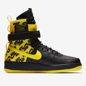 super popular 6baa2 2e738 Nike SF AF1 Air Force One High Men's 11.5 Black Dynamic Yellow Shoes ...