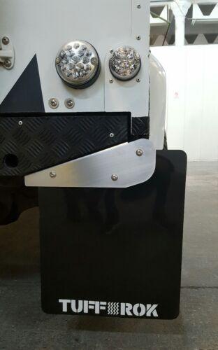 LANDROVER Defender 90 esteso XL Posteriore Fango Flap staffe in acciaio inox.