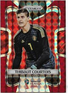 3247701f1 2018 Panini FIFA World Cup Red Mosaic Prizm (21) Thibaut COURTOIS ...