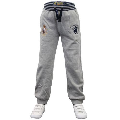 Boys Bottoms Santa Monica Kids Jogging Running Trousers Pants Fleece Winter New