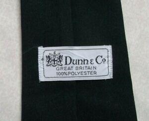 PerséVéRant Vintage Cravate Dunn & Co Homme Cravate Rétro Fashion Casual Solide Noir 1980 S 1990 S-afficher Le Titre D'origine