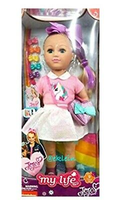 "My Life As *JOJO SIWA* 18/"" Doll Unicorn Shirt Cell Phone Selfie Stick Bows Purse"