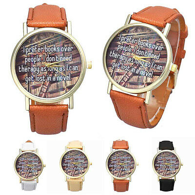 Fashion Women Wristwatch Leather Analog Quartz Watch Patterned Casual Watches