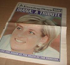 Evening Standard  Sunday 31.8.1997 Princess Diana Death Special Edition - Rare
