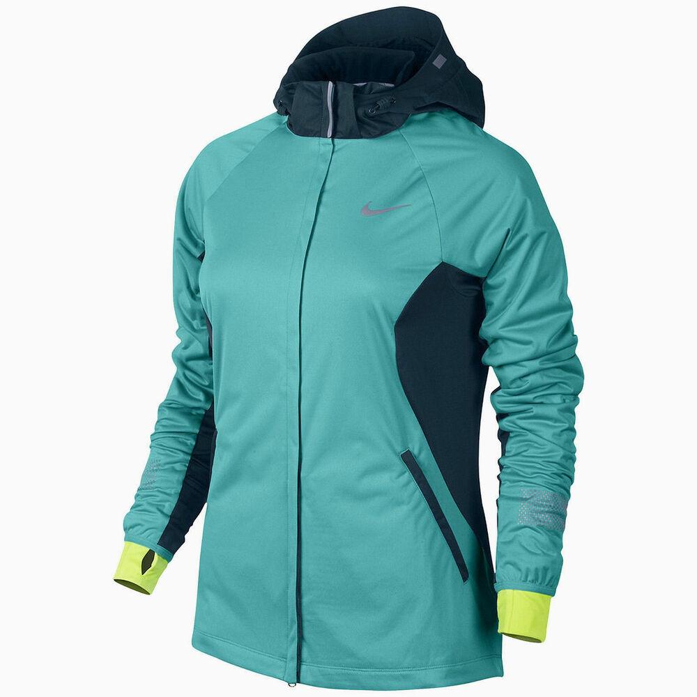 Débardeur Femme Nike Shield Veste Vent Et Résistant à L'eau Couleur Bleu Taille Xs Neuf