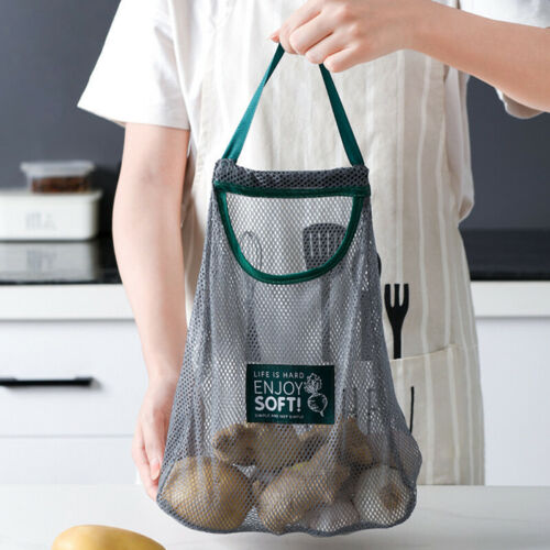 Reusable Mesh Produce Bags Fruit Vegetable Onion Storage Shopping Eco FriendJA