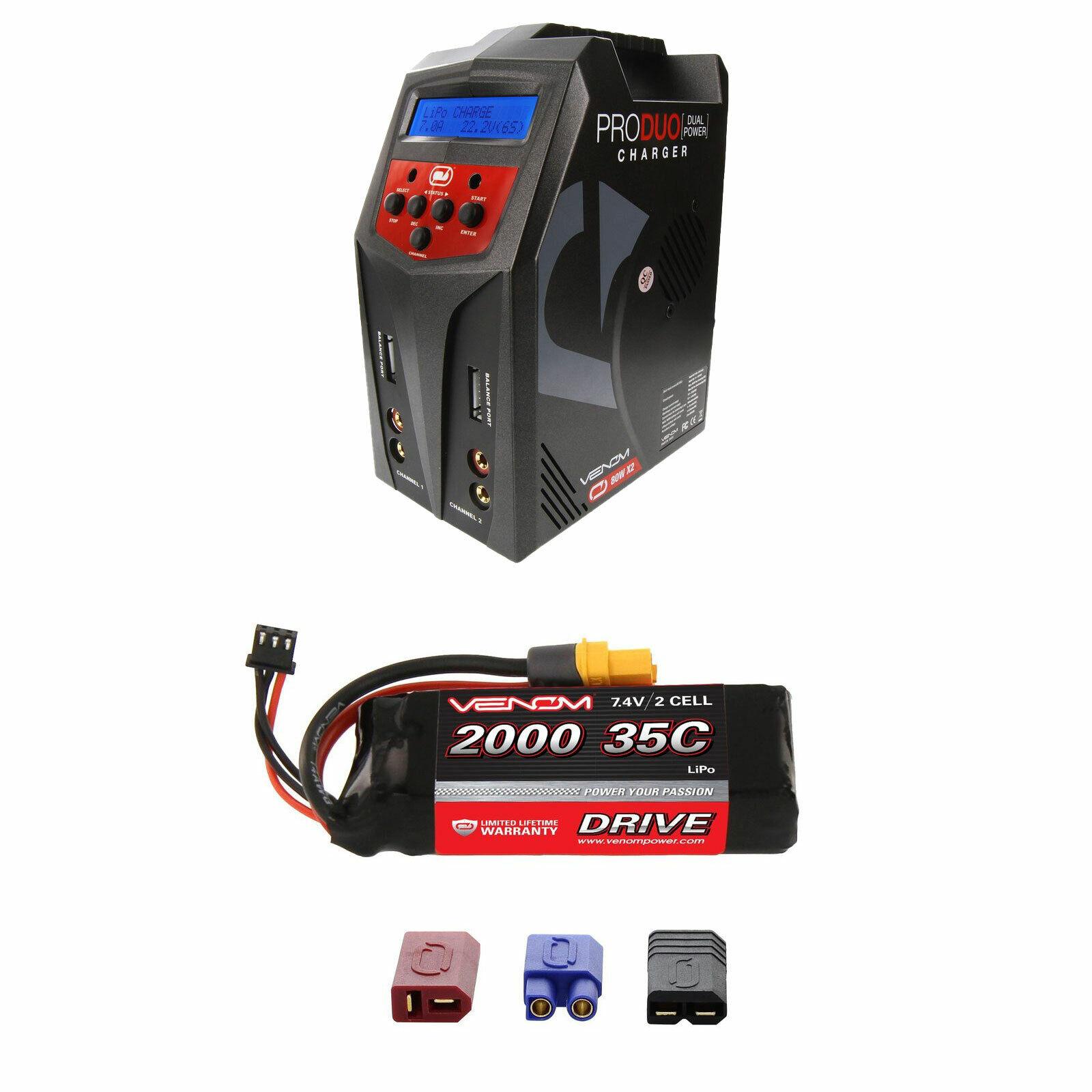 Venom 35C 2S 2000mAh 7.4V Batería Lipo Y Cargador Combo Pro Duo