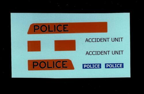 Dinky 272 Ford Transit-policía accidente transferencias//Calcomanías