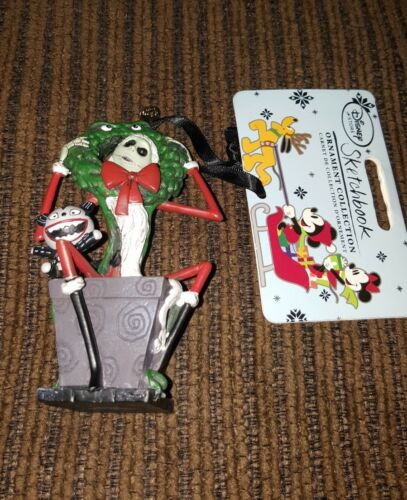 2015 Nightmare Before Christmas JACK TEDDY Holiday Ornament Disney Store BOXED