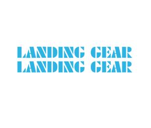 oversized blue Landing Gear Fork Decal set