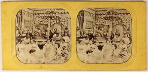Parigi-Second-Empire-Modalita-Foto-Stereo-PL54L3n-Diorama-Vintage-Albumina-c1865