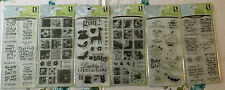 Lot of 6 BRAND NEW Inkadinkado Clear Stamps Baby animals sayings girl