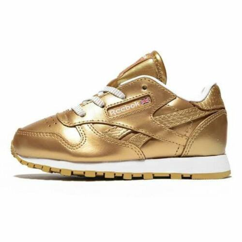 Reebok Classic Leather Metallic Kleinkinder Sneaker gold