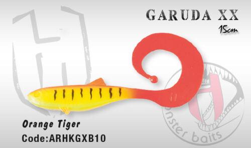 Italian designed Herakles Colmic soft plastic Garuda XX Shad Grub 15cm 8 colours