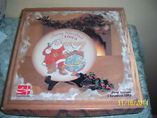 Coca Cola 1983 Christmas Plate-1st Annual Plate-The Classic Santa Claus-MINT BOX