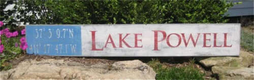 Hand Painted Wooden Sign HUGE Lake Powell